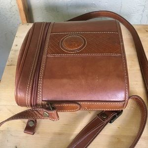 Bags - Saddle-style Leather Trim Crossbody Bag